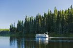 boating, Hanging Heart Lakes, Prince Albert National Park, Saskatchewan, Canada