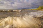 surf during a windy evening, Hillside Beach, Lake Winnipeg, Manitoba, Canada