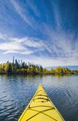 kayaking, Dickens Lake,  Saskatchewan, Canada