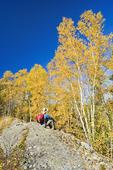 hiker, Dickens Lake, Northern Saskatchean