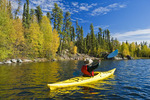 kayaking, Dickens Lake,  Northern Saskatchewan, Canada