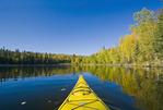 kayaking, Dickens Lake,  Northern Saskatchewan, Canada