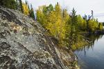 Precambrian shield rock, Dickens Lake,  Saskatchewan, Canada