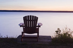 Muskoka chair, Waskesiu Lake, Prince Albert National Park, Saskatchewan, Canada