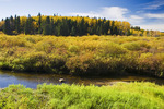 autumn along river , Riding Mountain National Park, Manitoba, Canada