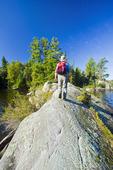 hiking, Lake of the Woods, Northwestern Ontario, Canada