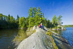 hiker, Lake of the Woods, Northwestern Ontario, Canada