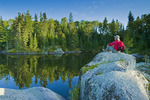 hiker, Lake of the Woods, Northwestern Ontario, Canada
