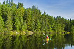 kayaking, Rushing River near Kenora, Ontario, Canada