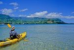 Kayaker in Hanalei Bay, Kauai