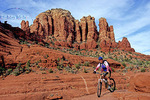 Bicyclist in Sedona