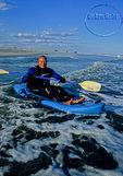 Kayaker off barrier island on the East Coast
