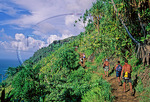 Hikers on the Kalalau Trail 
