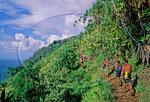 Hikers on the Kalalau Trail