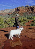 Hiker and dog in Sedona