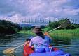 Kayaker on the Kalihiwai River on Kauai