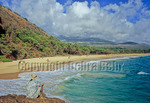 Tourist looks at Big Beach and Red Hill on Maui
