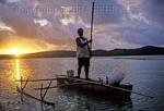 Fisherman in the Aitutaki Lagoon