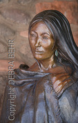 Changing Woman bronze sculpture by Susan Kliewer in downtown Sedona