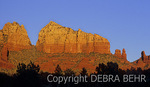 Golden light on Sedona peaks