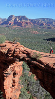 Young boy on the Devil's Bridge in Sedona