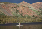 Paddle boarders on Lake Mary in Mammoth Lakes Basin