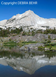 Mountain reflected in lake at 20 Lakes Basin