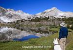 Hiker and dog at 20 Lakes Basin
