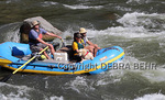 Dog joins couple on rafting trip on the Colorado River in Glenwood Canyon