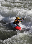 Kayaker in rapids on the Colorado River in Glenwood Canyon