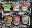 Jams and jellies for sale in the Hilo Market on the Big Island