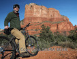 Bicyclist by Courthouse Butte
