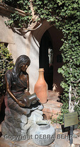 """Hopi Water Maiden"" sculpture by Susan Kliewer in Tlaquepaque"
