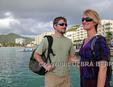 Couple at Simpson Bay on St. Maarten