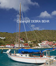 Boats in the harbor at Gustavia in St. Barts