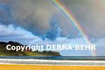 Rainbow at Hanalei Beach on Kauai