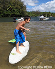 Children playing in the Hanalei River