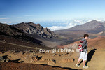 Teen hiking the Sliding Sands Trail at Haleakala National Park on Maui