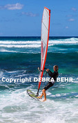 Windsurfers at Hookipa Beach Park on Maui