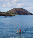 Outrigger canoe off Makena Landing in Maui