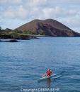 Outrigger canoe off Makena Landing in Maui