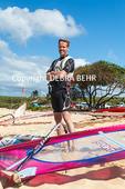 Windsurfer at Hookipa Beach Park on Maui
