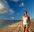 Woman at Kee Beach on Kauai