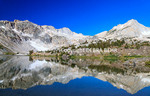 Reflection of mountains at 20 Lakes Basin