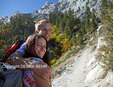 Couple hiking the Mt. Whitney Trail