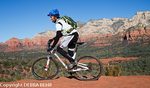 Mountain biker exploring Sedona, Arizona