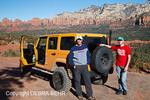 Men by four-wheel-drive vehicle explore Sedona