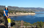 Mother and child explore Point Dume State Preserve in Malibu