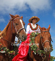 Young rider before start of the 35th Waimea Paniolo Parade. A keiki pau riders unit was added to the parade, part of the Hawaii Island Festivals: 30 Days of Aloha, a monthlong celebration of cultures.