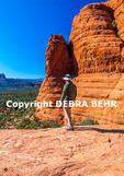 Hiker at Chicken Point in Sedona